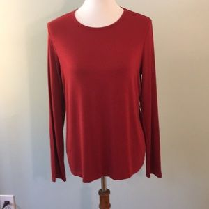 NWT Size L Burnt Red Lord and Taylor Top